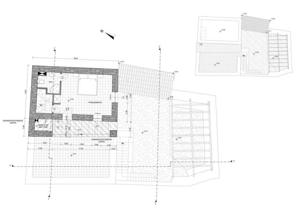 Second floor plan & Roof plan